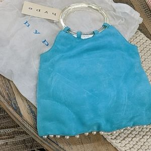 Hype brand turquoise suede bag